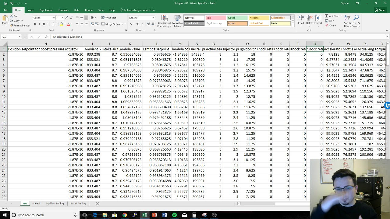 Mk7 Maestro Tutorial - The Data Log Fields