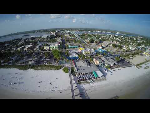 Cape Coral air view flight impressions