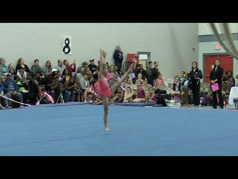 Simply Liv Floor Champion Coral Girls Level 8 Gym