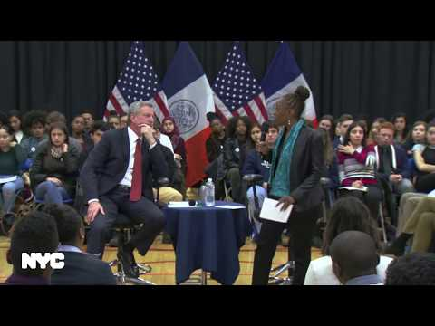 Mayor de Blasio Hosts Town Hall with High School Students on Gun Violence