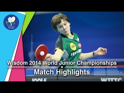 2014 Junior Worlds Highlights: Nina Mittelham (GER) Vs Zhang Lily (USA)