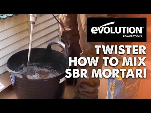 Evolution Twister Variable Speed Mixer: How to mix SBR Mortar!