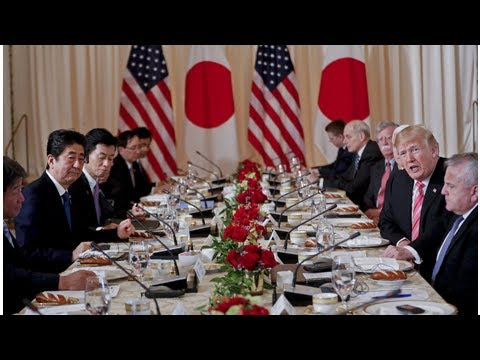 Trump tells Abe he wants free, fair trade with Japan; pledges to help with abduction issue