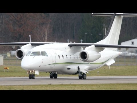 Dornier 328JET Tyrolean Jet Service Take Off at Airport Bern-Belp