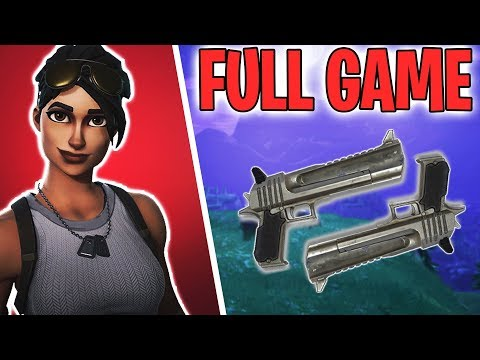 DOUBLE HAND CANNON GAMEPLAY !! - Fortnite Battle Royale