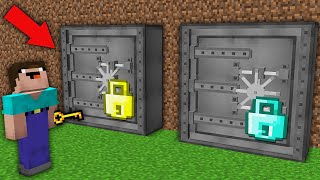 Minecraft NOOB vs PRO: WHAT BUNKER CAN NOOB OPEN WITH THUS KEY? Challenge 100% trolling