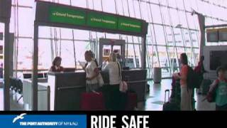 Newark Airport Ride Safe / Ground Transportation Video,  Port Authority of NY & NJ Customer Care