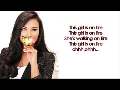 Girl On Fire - Glee Version (Santana) + DOWNLOAD LINK