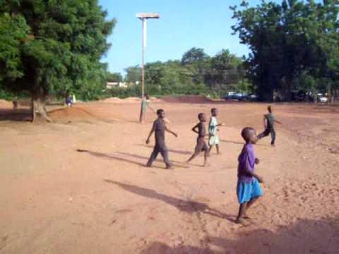 Soccer Ghana - African Neighbourhood Kids Playing