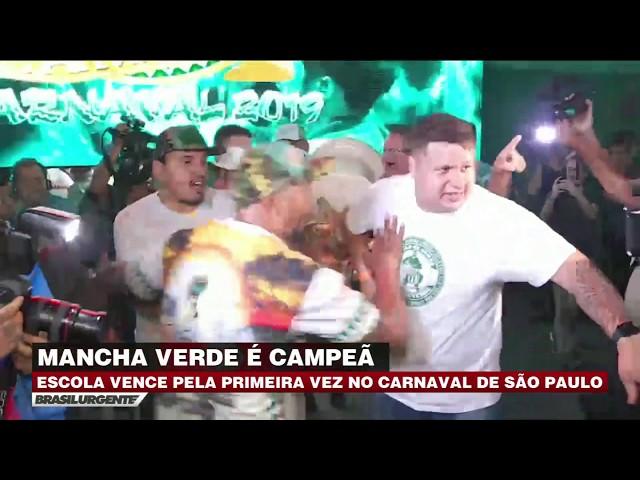 Mancha Verde é a campeã do carnaval de SP