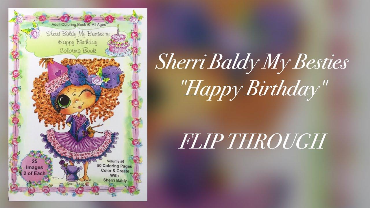 SHERRI BALDY my besties HAPPY BIRTHDAY - coloring book - flip ...