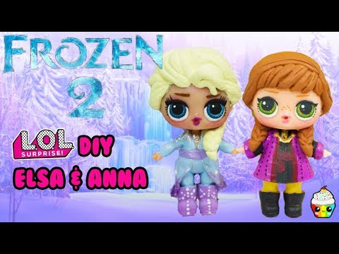 New Disney FROZEN 2 DIY LOL Surprise Anna & Elsa Makeover
