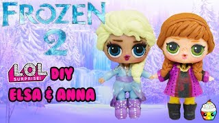 New Disney FROZEN 2 DIY LOL Surprise Anna & Elsa Makeover Video