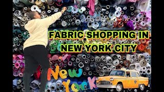 FABRIC SHOPPING IN NYC !!