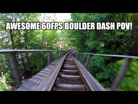 Boulder Dash Roller Coaster POV Awesome 60FPS Lake Compounce
