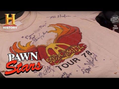 Best of Pawn Stars: Ray Tabano's Own Vintage Aerosmith Tour Tees | History