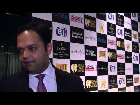 Nitesh Gandhi, general manager, The Oberoi, Gurgaon, New Delhi, at World Travel Awards 2012