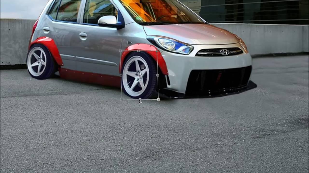 Virtual Tuning Hyundai I10 Photoshop