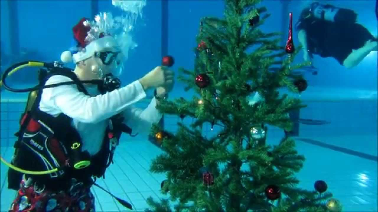 Building An Underwater Christmas Tree Youtube