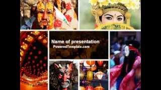 Festivals PowerPoint Template by PoweredTemplate.com