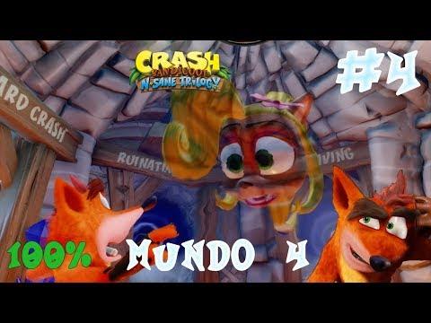 Guia Crash Bandicoot N. Sane Trilogy | Mundo 4 | Crash Bandicoot 2 | 100%