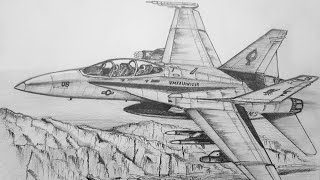 How To Draw A F/A-18 Hornet