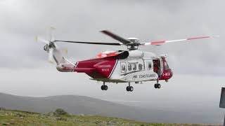 Download HM Coastguard Helicopter Landing & Take off on Snowdon 06/09/17 MP3 song and Music Video