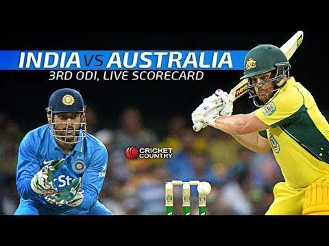 India Vs Australia 3rd ODI Live Streaming | Live Cricket Score | Commentary
