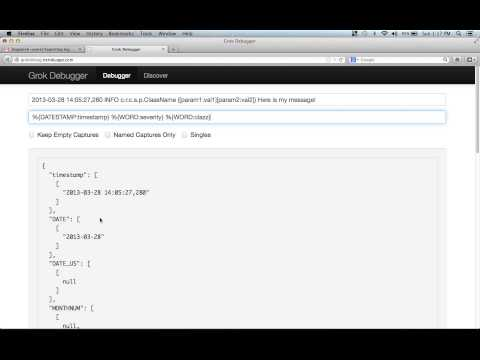 logstash: Using the grok debugger - YouTube
