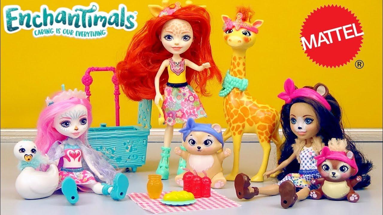 "Enchantimals Let/'s Flamingle Playset /& Doll 6/"" New New"