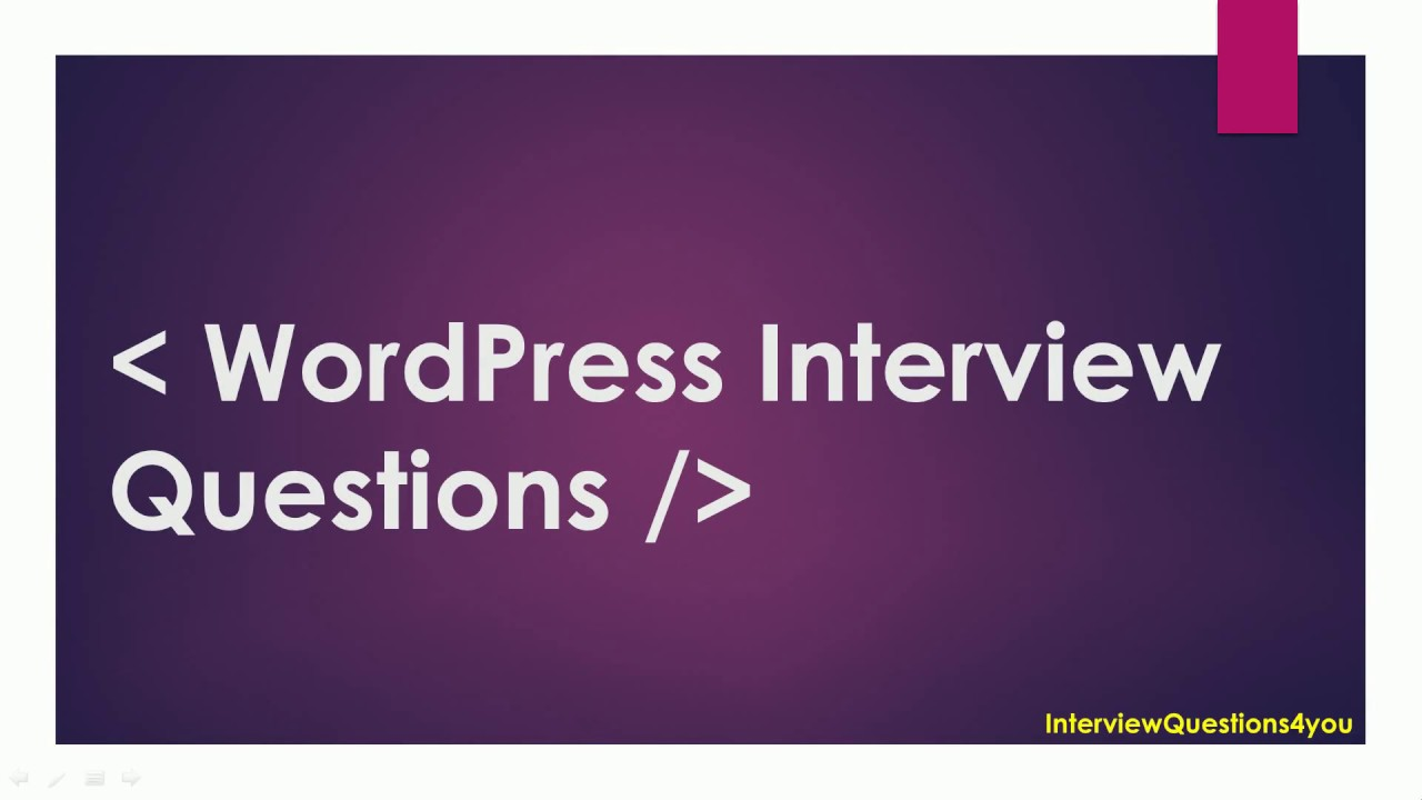 wordpress interview questions youtube - Second Interview Tips Second Interview Questions Part2