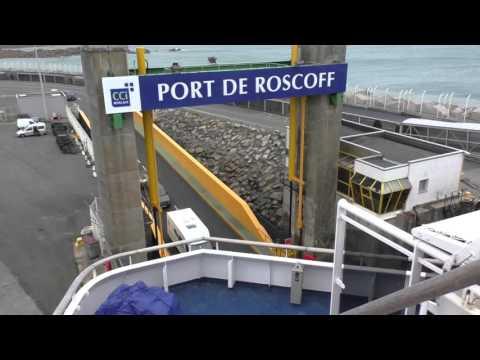 Brittany Ferries MV Bretagne Departing Roscoff, Finistère, Brittany France 14th November 2015