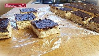 Ciasto batonikowe | Batoniki | Ciasto bez pieczenia :: Skutecznie.Tv [HD]