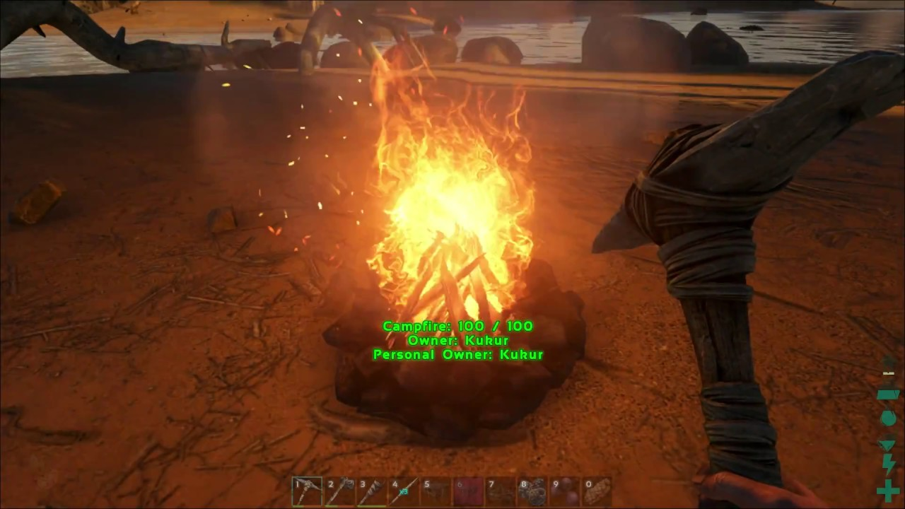 How to make cooked meat out of raw meat - ARK: Survival Evolved