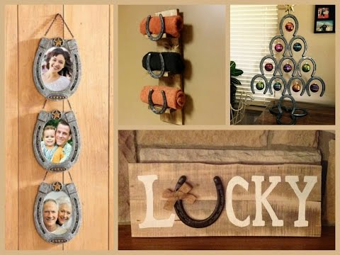 Lucky Horseshoe Craft Ideas - Recycled Home Decor