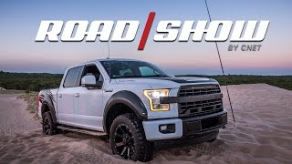 Tackling sand dunes in the 600-hp Roush F-150 SC