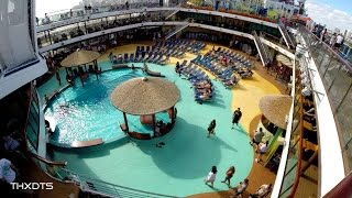 Carnival Breeze Embarcation POV Camera. Dec. 6th 2014. 1080p HD