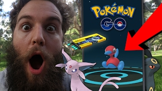 USING GEN 2 EVOLUTION ITEMS + UMBREON & ESPEON TRICK (POKEMON GO)