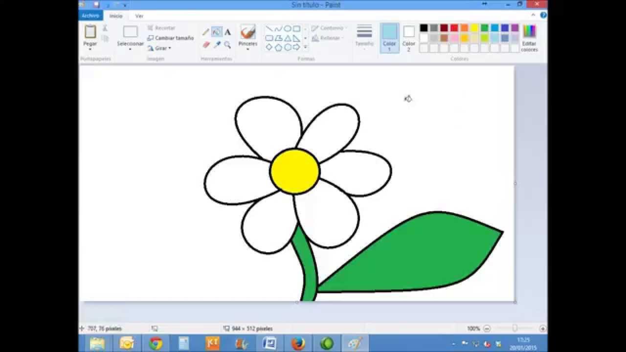 Dibujos Para Pintar En La Compu: Tutorial Paint 05: Como Dibujar Con Microsoft Paint Una