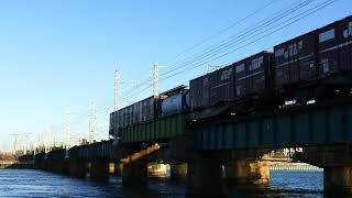 2019/10/09 JR貨物 朝貨物5本 気温18度肌寒い浜名湖二番鉄橋と鷲津界隈