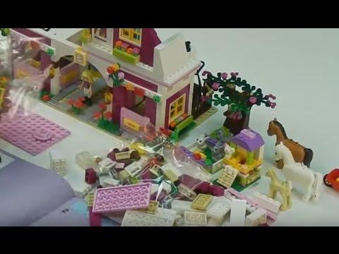 Конструктор Лего для девочек, лошадки куклы игрушки - YouTube