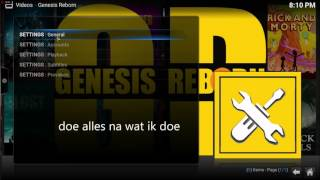 Kodi 01-08-2017 Film en tv Addon Genesis Reborn NL Dutch
