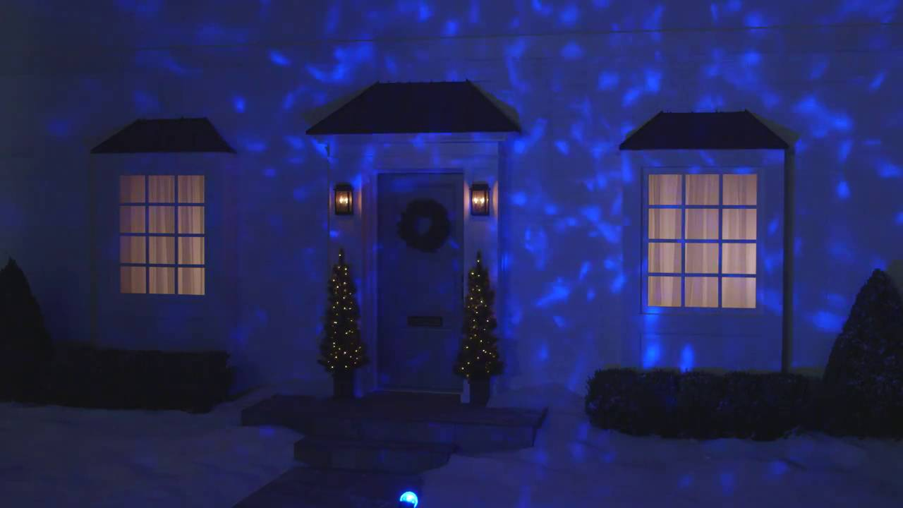 LED Lightshow Icy Blue LED Kaleidoscope Projector Christmas Lights ...