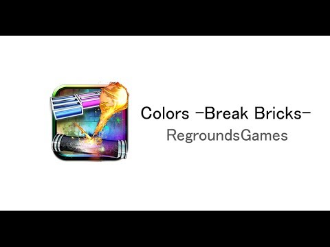 Colors -Break Bricks- an advanced, cool block-breaking game app for smartphones.