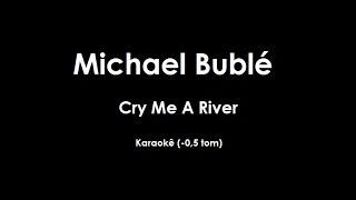 Cry Me A River - Michael Buble - Karaokê (-0,5 tom)