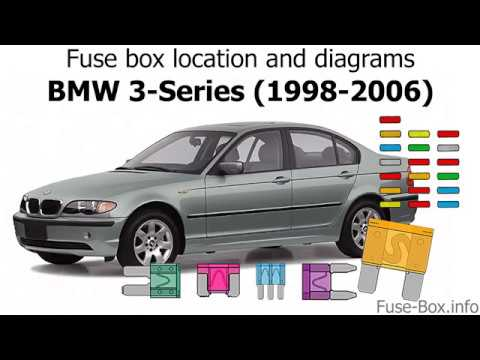 Fuse box location and diagrams BMW 3-Series (E46; 1998-2006) - YouTube