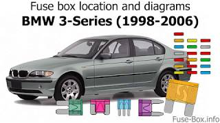 Fuse Box Location And Diagrams Bmw 3 Series E46 1998 2006 Youtube