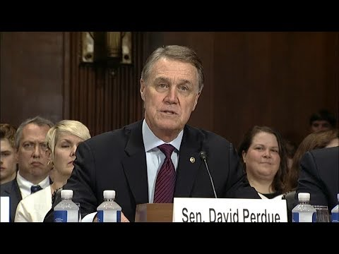 Senator David Perdue Introduces Mike Brown and Judge Billy Ray in Senate Judiciary Committee