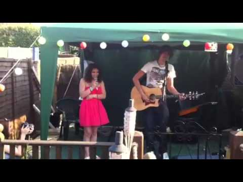 Me and Matt Bate singing together Live for my 14th birthday