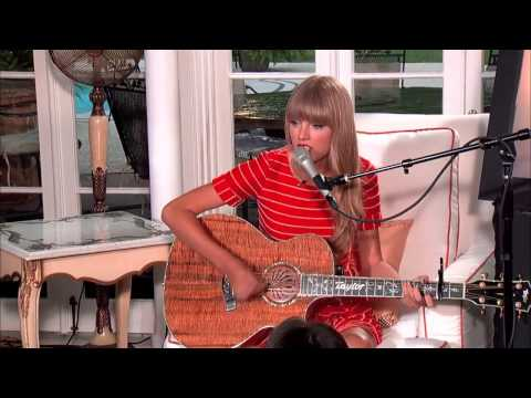 Taylor Swift - Acoustic 'Treacherous' From RED Album